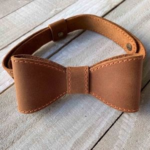 Other - Men's Leather Bow Tie